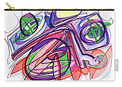 2010 Abstract Drawing Eleven Carry-all Pouch by Lynne Taetzsch