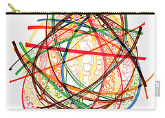 2010 Abstract Drawing Fifteen Carry-all Pouch by Lynne Taetzsch