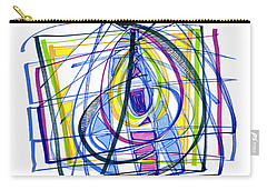 2010 Abstract Drawing Nineteen Carry-all Pouch by Lynne Taetzsch