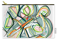 2010 Abstract Drawing Seventeen Carry-all Pouch by Lynne Taetzsch