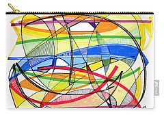 2010 Abstract Drawing Sixteen Carry-all Pouch by Lynne Taetzsch