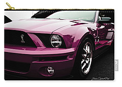 2010 Pink Ford Cobra Mustang Gt 500 Carry-all Pouch