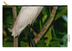 Carry-all Pouch featuring the photograph White Egret by Christopher Holmes
