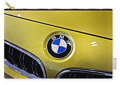 Carry-all Pouch featuring the photograph 2015 Bmw M4 Hood by Aaron Berg
