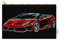 Carry-all Pouch featuring the digital art 2014 Lamborghini Gallardo by Aaron Berg