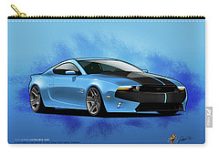 Carry-all Pouch featuring the digital art 2014 Mustang  by Doug Schramm