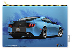Carry-all Pouch featuring the digital art 2014 Stang Rear by Doug Schramm
