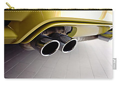 Carry-all Pouch featuring the photograph 2015 Bmw M4 Exhaust by Aaron Berg