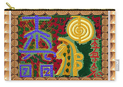 2015 Version Reiki Healing Symbols By Navin Joshi Carry-all Pouch by Navin Joshi
