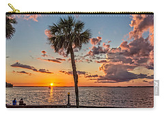 Carry-all Pouch featuring the photograph Sunset Over Lake Eustis by Christopher Holmes