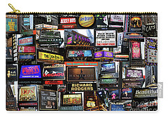 Carry-all Pouch featuring the photograph 2016 Broadway Fall Collage by Steven Spak