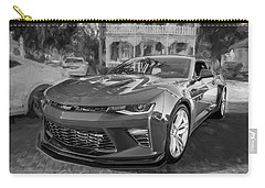 Carry-all Pouch featuring the photograph 2017 Chevrolet Camaro Ss2 Bw by Rich Franco
