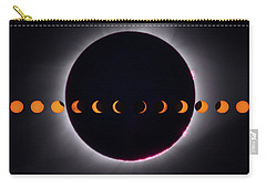 Carry-all Pouch featuring the photograph 2017 Total Eclipse And Moon Path by Mark Dodd