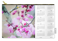 Carry-all Pouch featuring the photograph 2017 Wall Calendar Cherry Blossoms by Ivy Ho