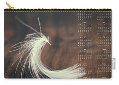Carry-all Pouch featuring the photograph 2017 Wall Calendar Feather by Ivy Ho
