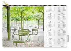 Carry-all Pouch featuring the photograph 2017 Wall Calendar Paris by Ivy Ho