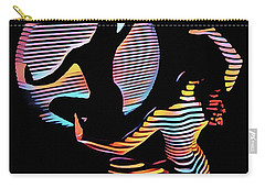 2039s-mak Female Figure In Spotlight Rendered In Composition Style Carry-all Pouch