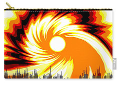 205 - Poster Climate Change  2 ... Burning Summer  Sun  Carry-all Pouch