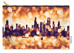 Chicago Illinois Skyline Carry-all Pouch by Michael Tompsett