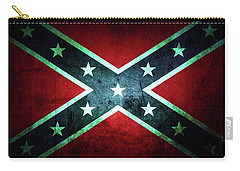Carry-all Pouch featuring the photograph Confederate Flag by Les Cunliffe