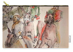 Carry-all Pouch featuring the painting Il Palio Contrada  Lupa Album by Debbi Saccomanno Chan
