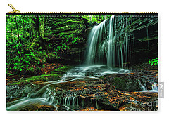 West Virginia Waterfall Carry-all Pouch by Thomas R Fletcher