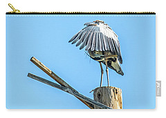 Great Blue Heron Carry-all Pouch by Tam Ryan