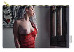 Carry-all Pouch featuring the photograph Tu M'as Promis by Traven Milovich