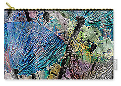 22a Abstract Floral Painting Digital Expressionism Carry-all Pouch