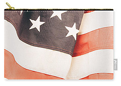 Carry-all Pouch featuring the photograph American Flag by Les Cunliffe