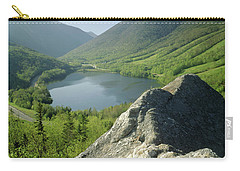 Carry-all Pouch featuring the photograph 235601 Echo Lake Cannon Mountain Nh by Ed Cooper Photography