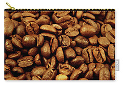 Carry-all Pouch featuring the photograph Coffee Beans by Les Cunliffe
