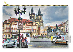 Carry-all Pouch featuring the pyrography  Praha by Yury Bashkin