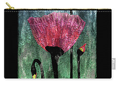 24a Abstract Floral Painting Digital Expressionism Carry-all Pouch