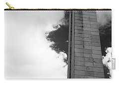25 De Abril Monument In Black And White Carry-all Pouch by Lorraine Devon Wilke