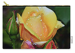 Carry-all Pouch featuring the photograph Nice Rose by Elvira Ladocki