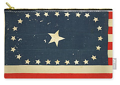 Carry-all Pouch featuring the painting 25-star American National Flag by Artistic Panda