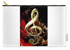 Saxophone Collection Carry-all Pouch by Marvin Blaine