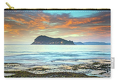 Sunrise Seascape With Clouds Carry-all Pouch
