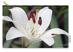 White Lily Carry-all Pouch by Elvira Ladocki