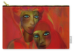 260 - Women In Red  Cothing A... Carry-all Pouch