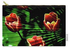Texture Flowers Carry-all Pouch