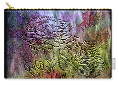 28a Abstract Floral Painting Digital Expressionism Carry-all Pouch