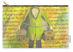 Carry-all Pouch featuring the mixed media 2b Or Not 2b by Desiree Paquette