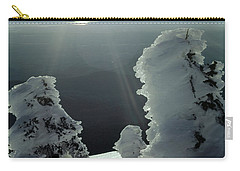 2m4415 A Ice Covered Trees Over Puget Sound Carry-all Pouch