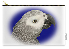 Carry-all Pouch featuring the photograph African Grey Parrot  by Debbie Stahre