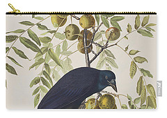American Crow Carry-all Pouch by John James Audubon