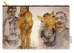Carry-all Pouch featuring the painting American Pharaoh Abum by Debbi Saccomanno Chan
