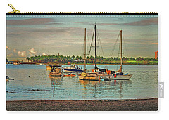 Carry-all Pouch featuring the digital art 3- Anchored Out by Joseph Keane