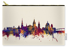 Carry-all Pouch featuring the digital art Annapolis Maryland Skyline by Michael Tompsett